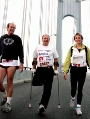 Dick correu 65 provas e vai para a sua 25ª Maratona de Nova York (Foto: Reprodução/SporTV)