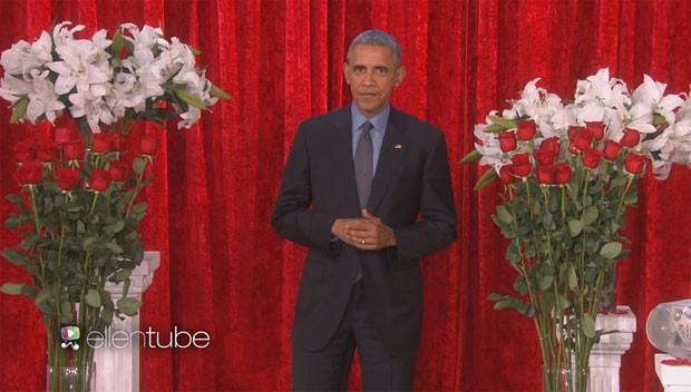 Obama recita versos de amor para Michelle em programa de TV nos EUA (Foto: The Ellen DeGeneres Show/reprodução)