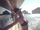 De biquíni, Heidi Klum exibe corpo esbelto em rede social