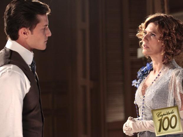Umberto fica em transe com a força de sua amada (Foto: Lado a Lado/TV Globo)