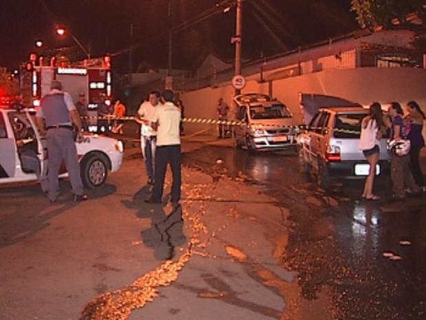 Acidente foi em cruzamento do Jardim Bela Vista  (Foto: reprodução/TV Tem)