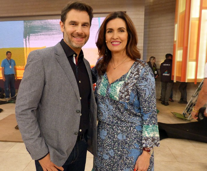 Fátima com o Dr. Fernando Gomes Pinto (Foto: Carolina Morgado/Gshow)