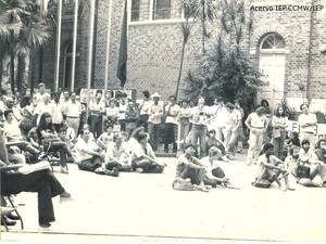 Greves de estudantes e professores da Unimep foram investigadas pelo Estado nos anos 80 (Foto: Arquivo/Acervo IEP.CCMW/IEP)