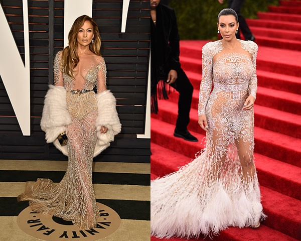 Jennifer Lopez e Kim Kardashian (Foto: Getty Images)