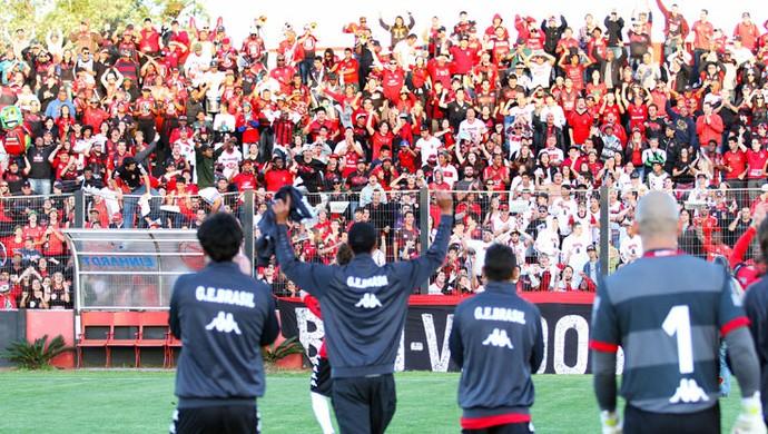 Brasil de Pelotas venceu o Ituano e encara o Operário pela Série D (Foto: Italo Santos/Divulgação Brasil de Pelotas)