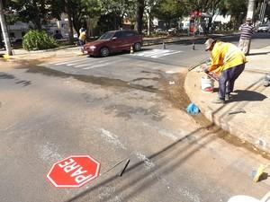 Alterações serão feitas em diversas ruas do Jardim Bela Vista. (Foto: Ana Carolina Levorato/G1)