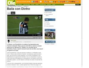 Diário Olé elogia vitória do Galo na Libertadores (Foto: Reprodução / Site Oficial)