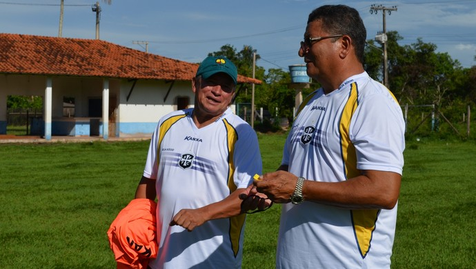 Filiba e Lúcio Santarém são francisco (Foto: Weldon Luciano/GloboEsporte.com)