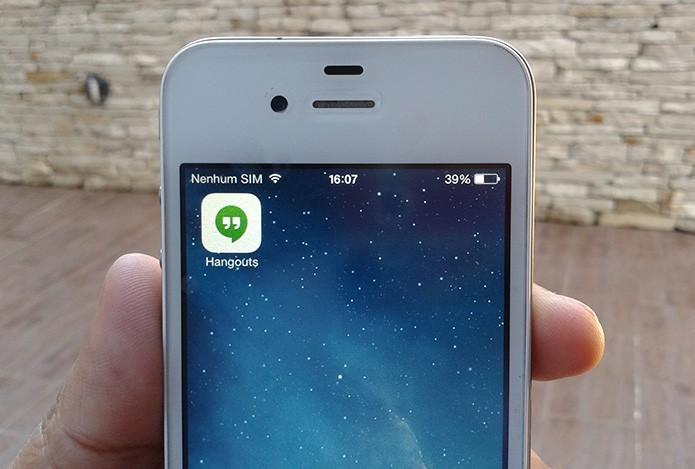 Como copiar e colar imagens em conversas do Hangouts no iPhone? (Foto: Marvin Costa/TechTudo)