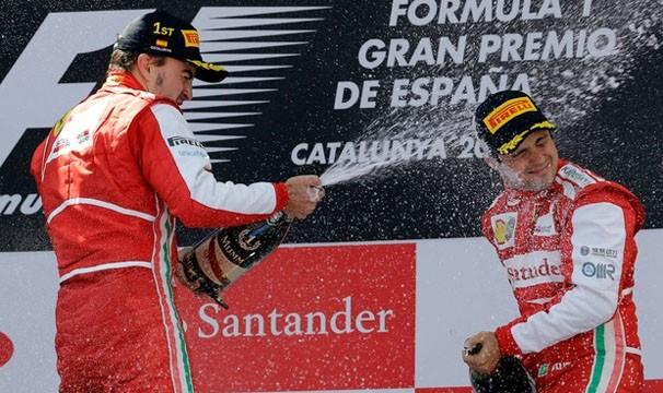 Na última corrida, Felipe Massa comemorou o primeiro pódio da temporada 2013 (Foto: AP/Reprodução: Globoesporte.com)