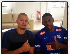 Nei e Aranha, CT Rei Pelé, em Santos (Foto: Reprodução  / Instagram)