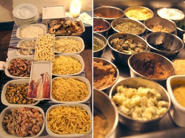 Diversas opções ficam à mostra, o que desperta a criatividade de clientes e do chef (Foto: Flavio Flarys / G1)
