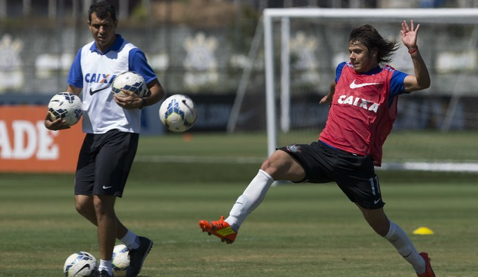 Fabio Carille e Romero (Foto: Daniel Augusto Jr/ Ag.Corinthians)