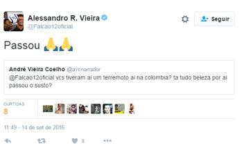 """Terremoto atinge Colômbia e assusta seleção brasileira: """"Passou"""", diz Falcão"""