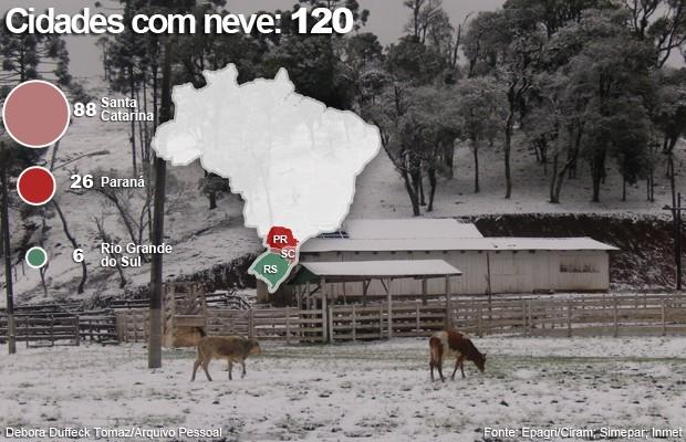 Neve no Brasil 23.7 20h45 (Foto: Debora Duffeck/VcnoG1)
