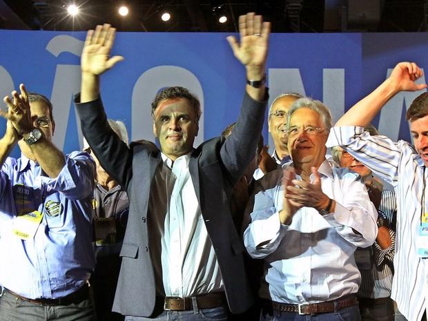 Aécio convenção PSDB (Foto: Sérgio Castro/Estadão Conteúdo)