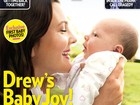 Drew Barrymore apresenta a filha para revista