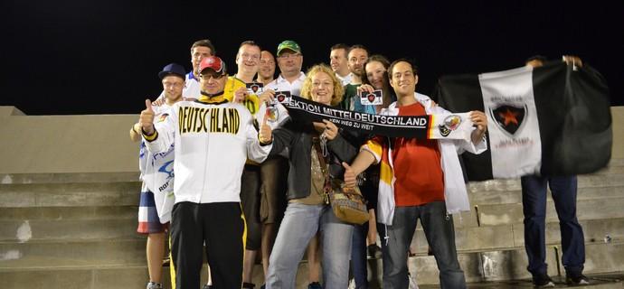 No Almeidão, alemães reforçam torcida do Botafogo (Foto: Hévilla Wanderley / GloboEsporte.com/pb)