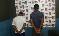 Polícia prende dois suspeitos de assalto e furto (Toni Francis/G1)