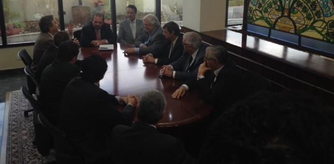 Reunião FPF (Foto: Fabricio Crepaldi/GloboEsporte.com)
