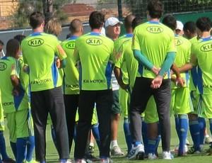grupo Luiz Felipe Scolari felipão palmeiras treino elenco (Foto: Daniel Romeu/Globoesporte.com)