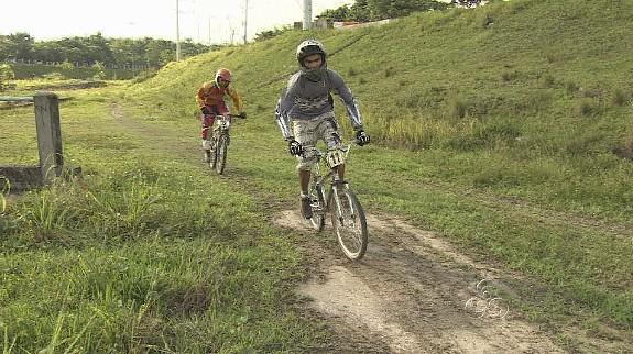 Ciclistas amazonenses treinando para competição em Roraima (Foto: Bom dia Amazônia)