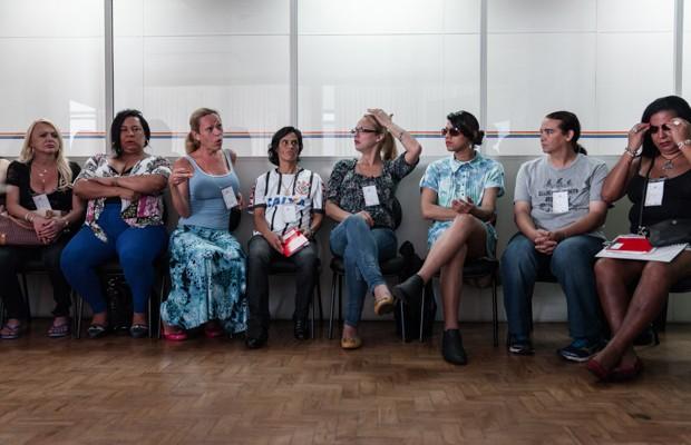 Alunas e alunos na aula do Transcidadania, em São Paulo (Foto: Marcelo Brandt/G1)