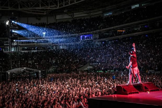 Axl Rose no show do Guns N' Roses em São Paulo. (Foto: Divulgação/Katarina Benzova)