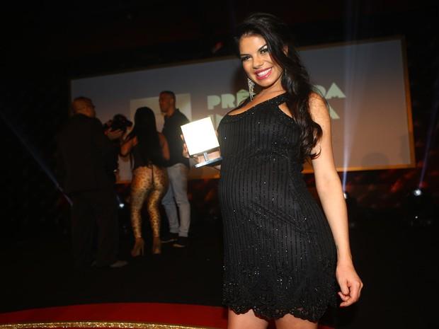 Fabiane Thompson, eleita melhor atriz, no Prêmio da Indústria Pornô em São Paulo (Foto: Iwi Onodera/ EGO)