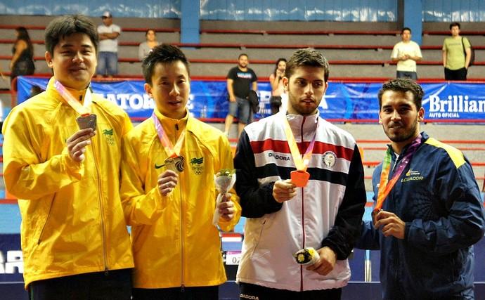 Cazuo Matsumoto e Gustavo Tsuboi, tênis de mesa, Sul-Americano do Chile (Foto: Divulgação / CBTM)