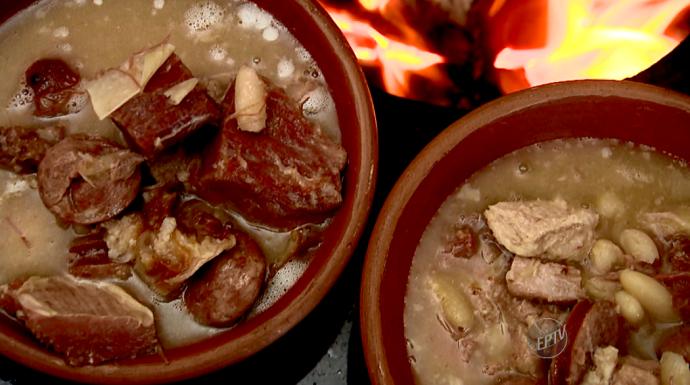 A receita de feijoada branca feita no fogão à lenha vai muito bem nos dia de frio. (Foto: reprodução EPTV)