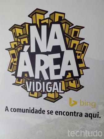 Projeto Bing da Área, em evento no Morro do Vidigal (Foto: Carol Danelli/TechTudo)