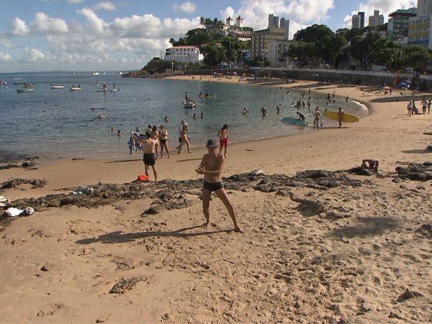 Porto da Barra, em Salvador (Foto: Imagem/TV Bahia)
