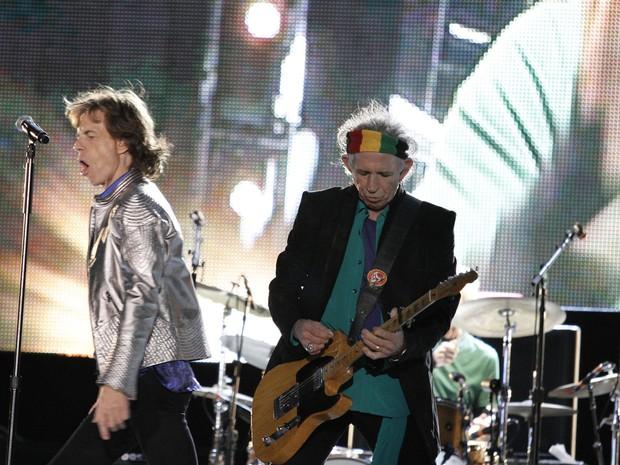 29/05 - Mick Jagger e Keith Richards em show dos Rolling Stones no Rock in Rio Lisboa (Foto: Divulgação/Rock in Rio Lisboa)