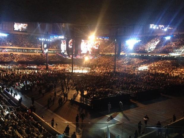 Arena da Baixada ficou lotada para o UFC 198 (Foto: Monique Silva/ G1)