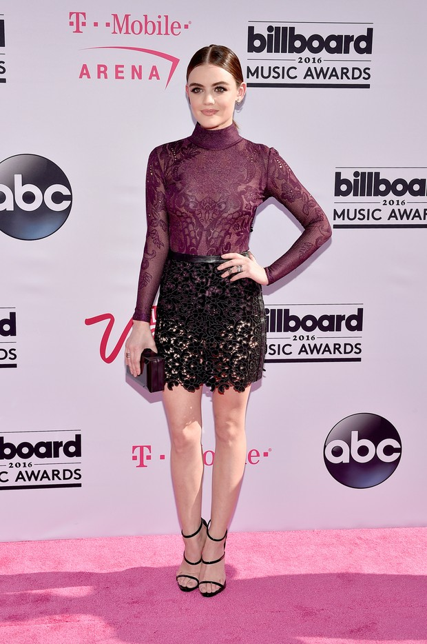 Lucy Hale no Billboard Music Awards (Foto: AFP)