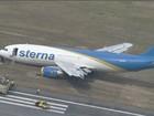 Avião faz pouso forçado no Aeroporto dos Guararapes (Reprodução Globo News)