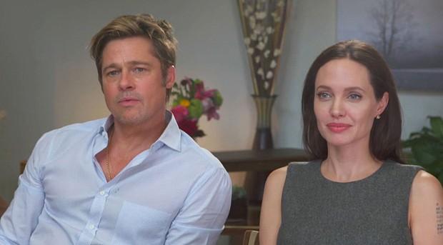 Brad Pitt e Angelina Jolie (Foto: The Grosby Group)