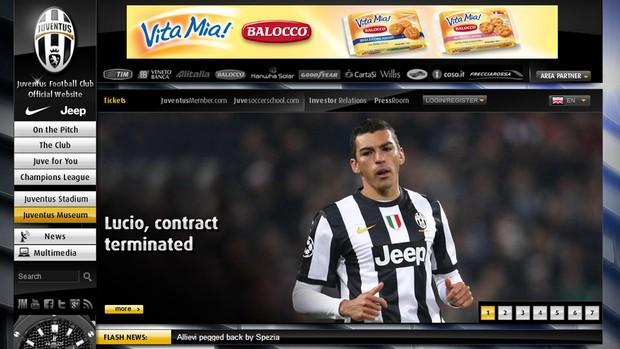 Lúcio contrato Juventus terminato  (Foto: Reprodução / Site Oficial)