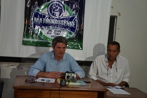 Helmute Lawisch presidente da Federação Mato-grossense de Futebol  (Foto: Adriane Rangel/FMF)