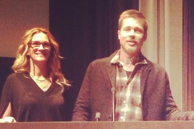 Julia Roberts e Brad Pitt (Foto: The Grosby Group / Agencia)