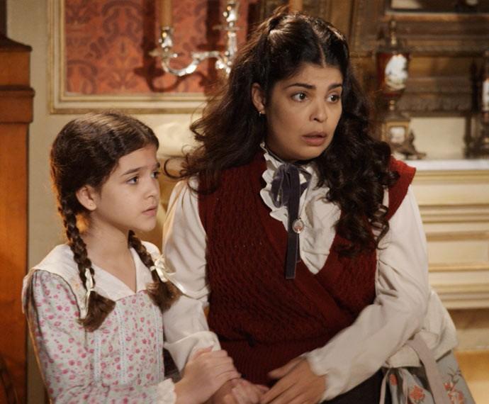 Mel Maia e Daniela Fontan estão divertindo o público (Foto: TV Globo)
