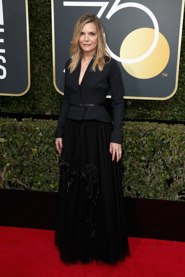 BEVERLY HILLS, CA - JANUARY 07:  Michelle Pfeiffer  attends The 75th Annual Golden Globe Awards at The Beverly Hilton Hotel on January 7, 2018 in Beverly Hills, California.  (Photo by Frederick M. Brown/Getty Images) (Foto: Getty Images)