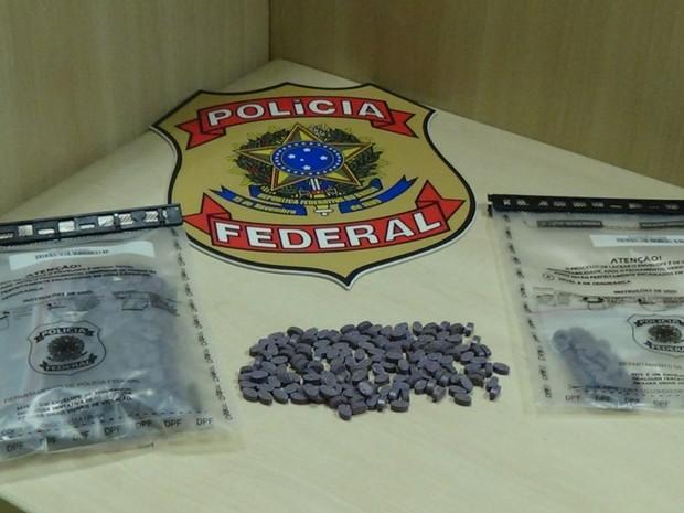 Droga estava com um paulista que vinha de Florianópolis para Natal (Foto: Polícia Federal/Divulgação)