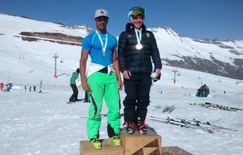 Michel Macedo bate recorde e vira tricampeão brasileiro de esqui alpino