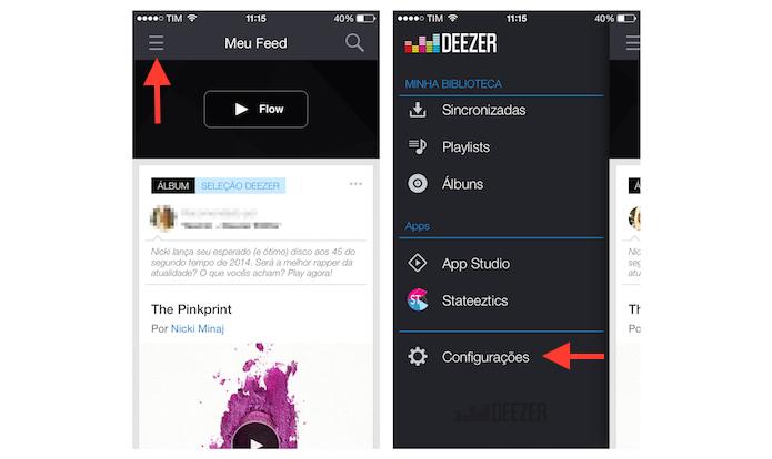 Acessando as configurações do Waze para ativar o áudio em alta qualidade em redes Wi-FI (Foto: Reprodução/Marvin Costa)