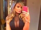 Andressa Urach diz que ficou com Cauã Reymond: 'Duas vezes'