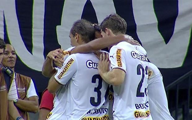 gol do Botafogo x Corinthians (Foto: Reprodução)