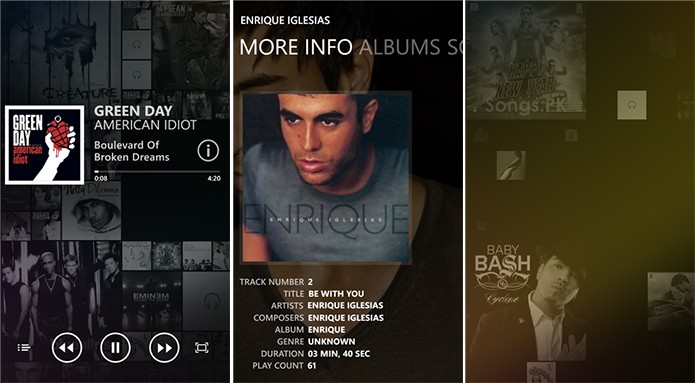 Lure é um player de músicas para Windows Phone com design diferenciado (Foto: Divulgação/Windows Phone Store)