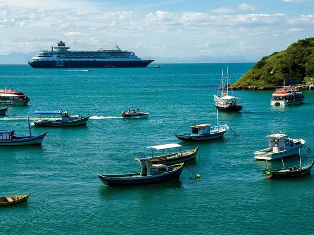 Transatlânticos começam a chegar em Búzios a partir do dia 9 de novembro (Foto: Divulgação)